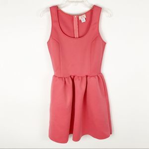 Love...Ady pink scuba fit and flare dress
